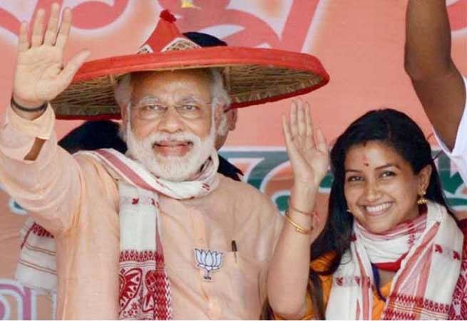 Angoorlata Deka with PM Modi