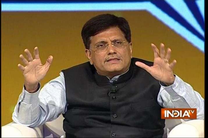 Piyush Goel in India TV Samvaad