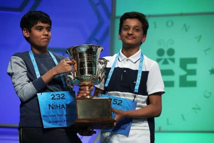 Spellers Nihar Saireddy Janga and Jairam Jagadeesh Hathwa