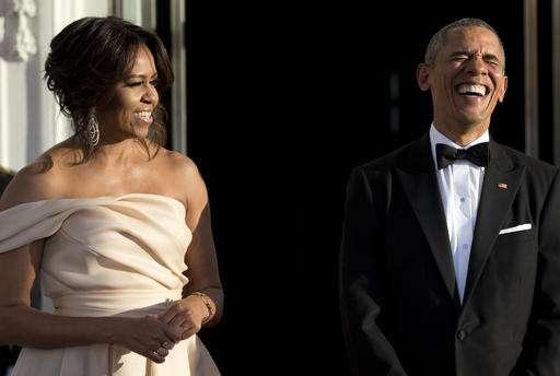 Michelle Obama stunned in Indian-American fashion designer