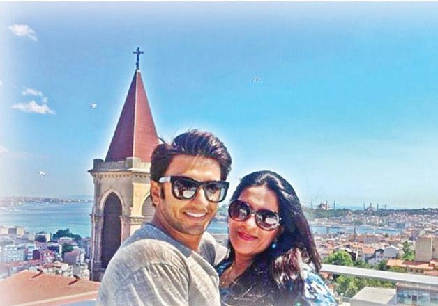 India Tv - Ranveer Singh with his mother
