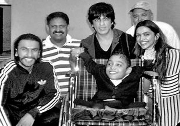 India Tv - Ranveer Singh With Shah Rukh Khan and Deepika Padukone