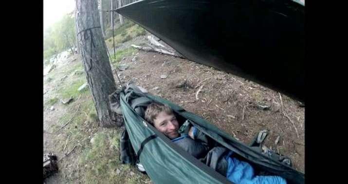 India Tv - Sleeping in a hammock