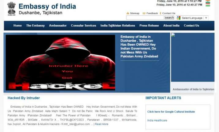 Intruder, Romantic': Hackers 'supporting' Pak lay seige to