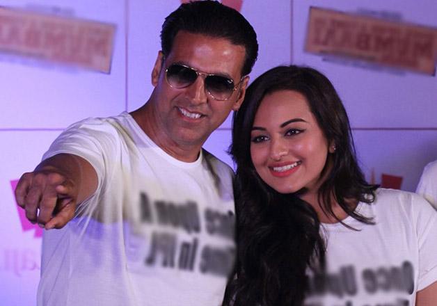 Akshay Kumar with Sonakshi Sinha
