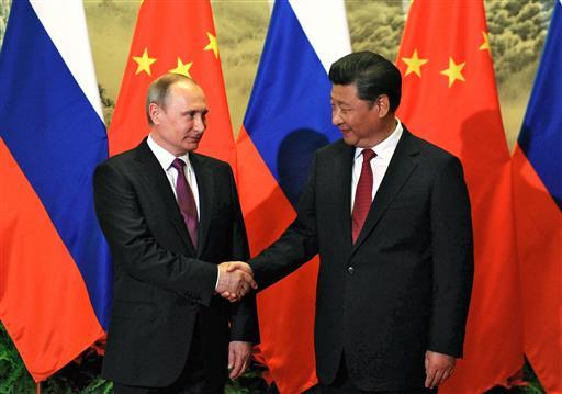 Putin with Xi Jinping