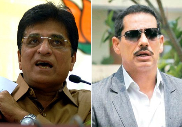 Kirit Somaiya demands FIR against Robert Vadra