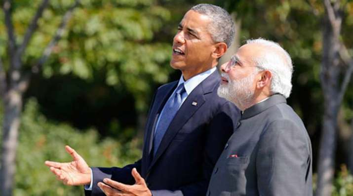 India Tv - Obama with Modi, New Delhi 2015