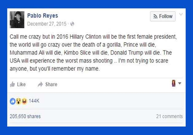 Pablo Reyes's status as on December 2015