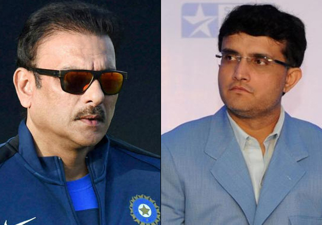 Ravi Shastri and Sourav Ganguly