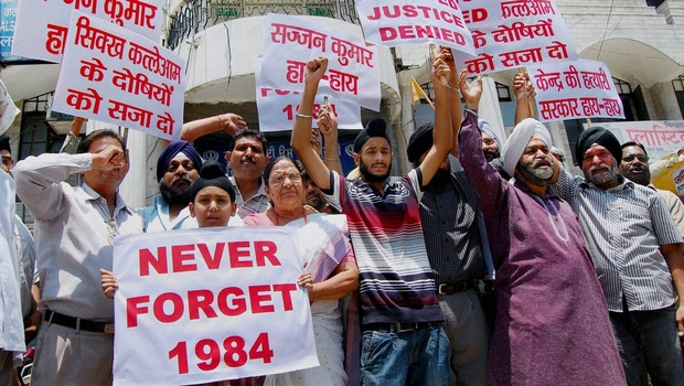 Protest demanding justice for 1984 riot victims