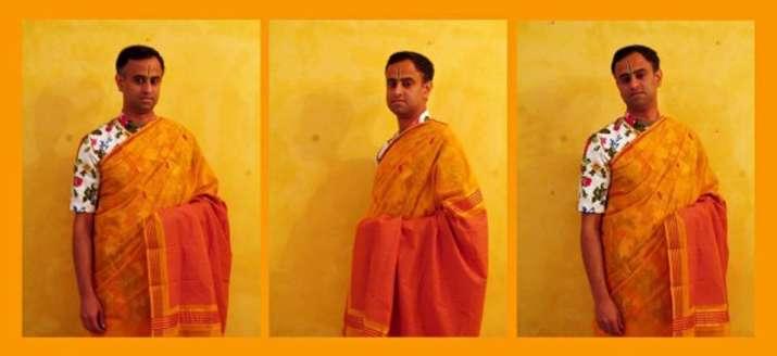 India Tv - The saree man, Himanshu Verma
