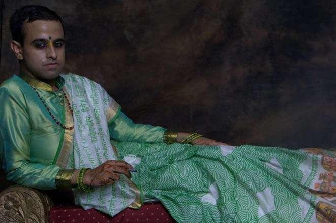 The saree man, Himanshu Verma