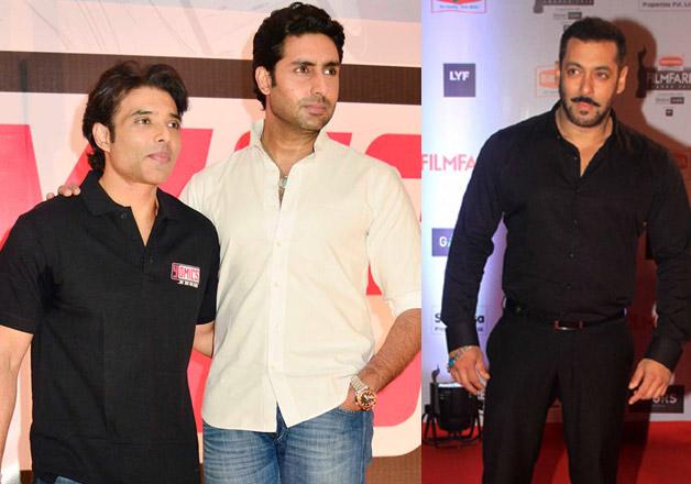 Uday Chopra with Abhishek Bachchan, Salman Khan