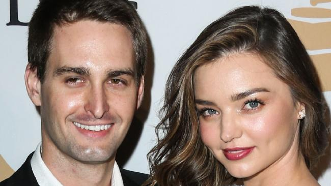 Evan Spiegel and Model Miranda Kerr