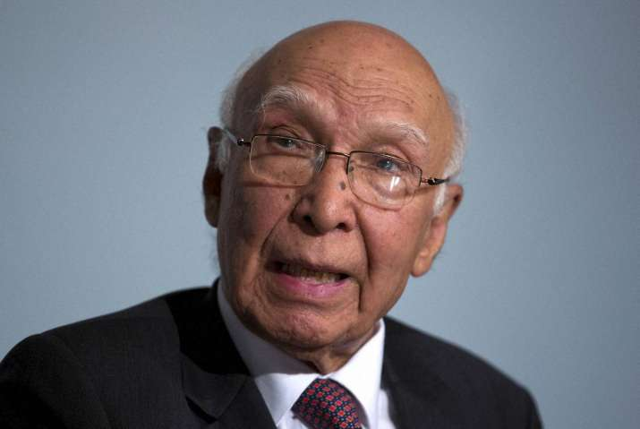 Pakistan's Foreign Affairs Adviser Sartaj Aziz