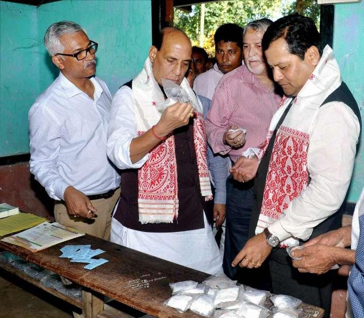Rajnath Singh with Assam CM Sarbananda Sonowal