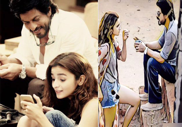 Alia Bhatt shares a pic with SRK from the sets of 'Dear