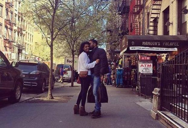 India Tv - Anurag Kashyap lands a kiss on his 'rumoured' girlfriend's cheek