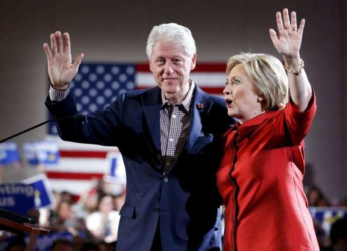 Hillary Clinton with former President Bill Clinton