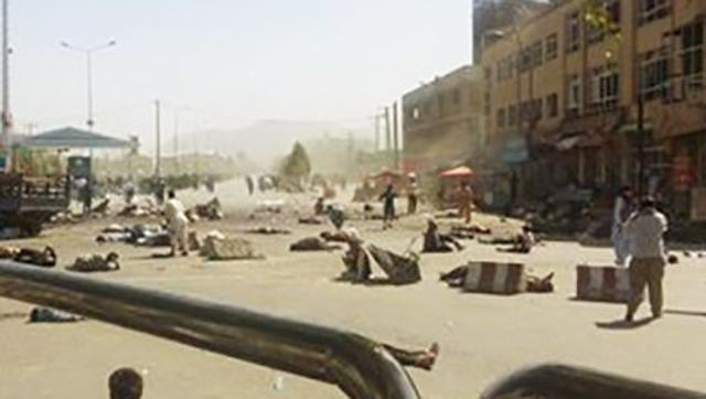 India Tv - Suicide bombings in Kabul.