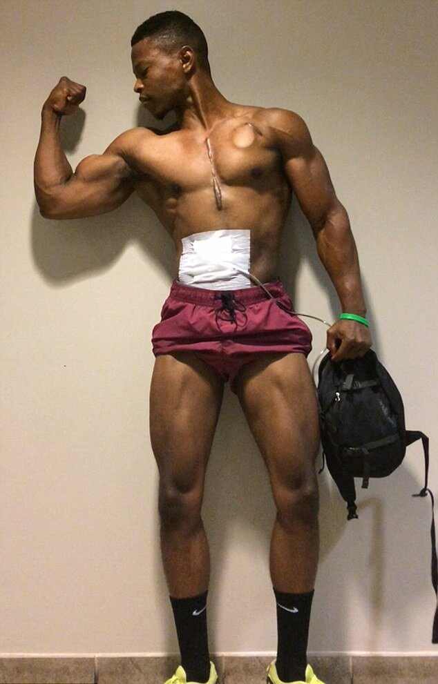 Bodybuilder who carries his heart in a bag