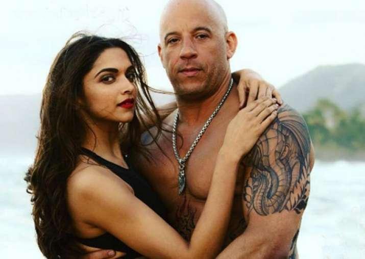 Deepika Padukone with Vin Diesel
