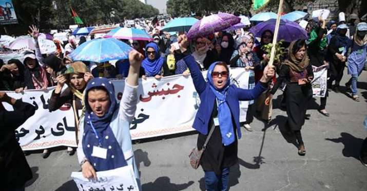India Tv - Demonstration in Kabul.
