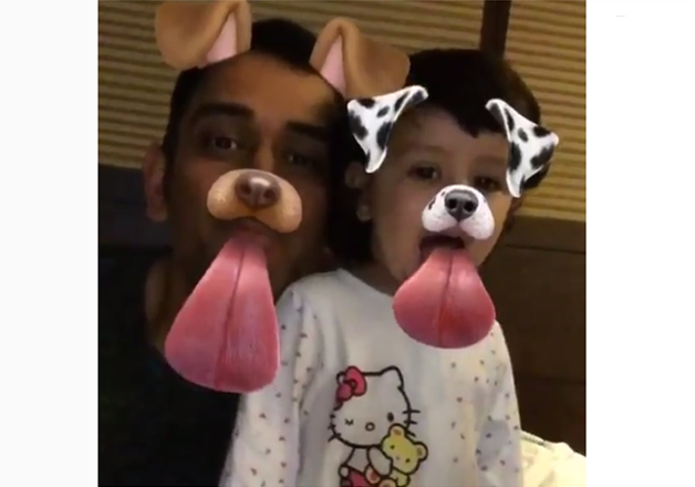 This Snapchat video of Dhoni with daughter Zia is an