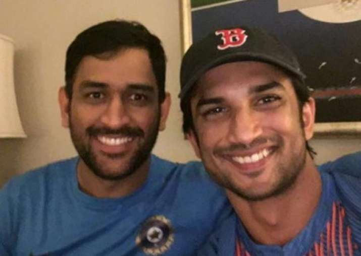 MS Dhoni with Sushant Singh Rajput