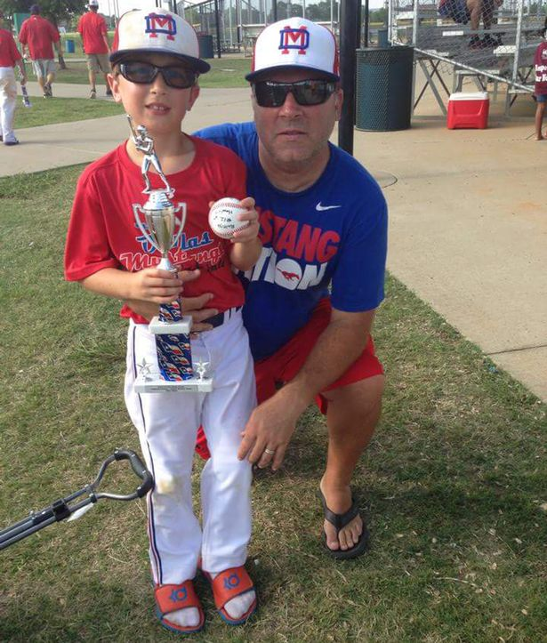 Sean Copeland, 51, and his 11-year-old son, Brodie