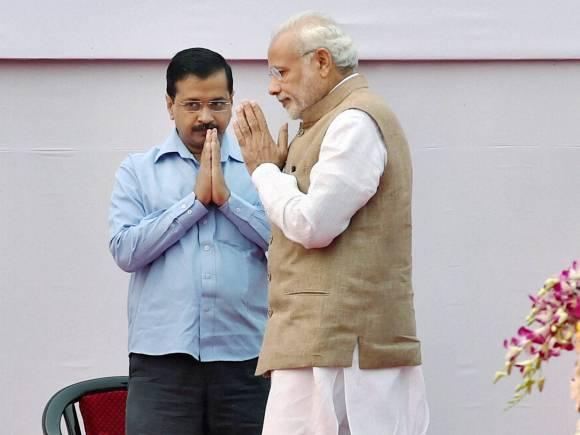 File photo of Narendra Modi and Arvind Kejriwal