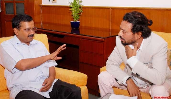 Irrfan Khan meets Delhi CM Arvind Kejriwal
