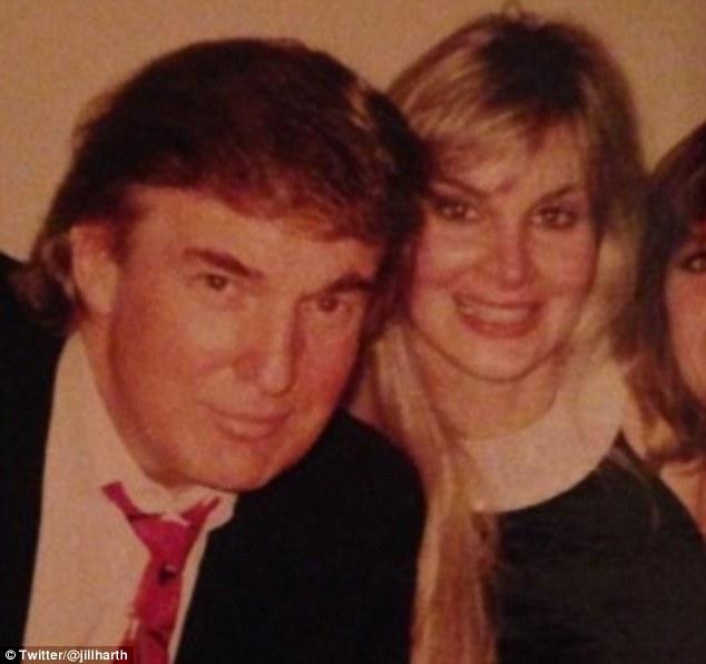Donald Trump with Jill Harth