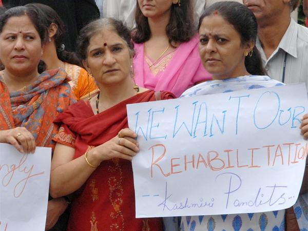 Kashmiri Pandits protest (file)