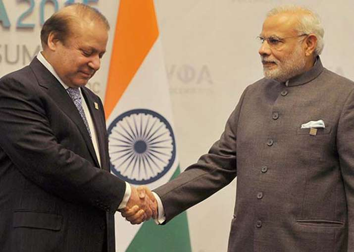 PM Modi with Pak PM Nawaz Sharif