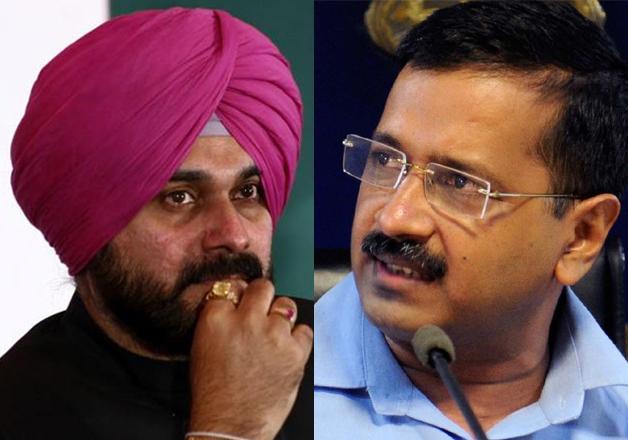 Navjot Singh Sidhu and Arvind Kejriwal