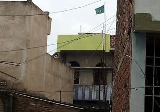 Pakistani flag hoisted in Nalanda