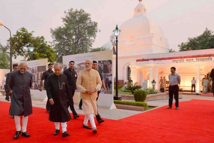 India Tv - PM Modi with President