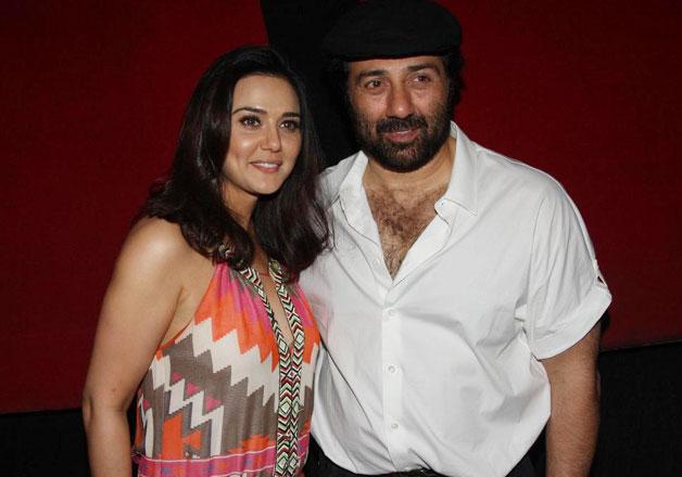 Preity Zinta and Sunny Deol