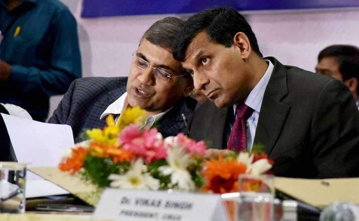 RBI Governor Raghuram Rajan with W R Reddy, Director