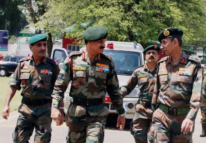 Army Chief General Dalbir Singh reviews the security