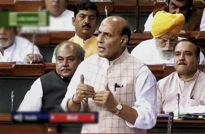 Rajnath Singh in Lok Sabha