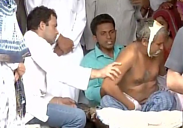 Rahul Gandhi meets victims of Una-violence