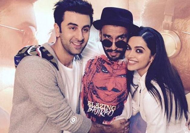 Deepika Padukone, Ranveer Singh and Ranbir Kapoor