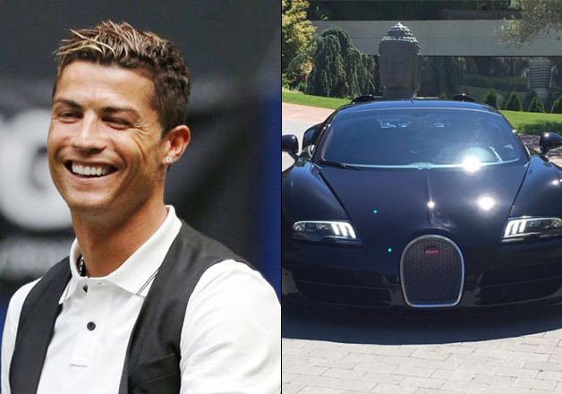 Cristiano Ronaldo and his new Buggati