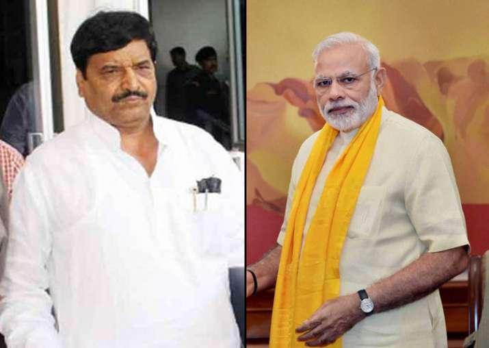 Shivpal with Modi