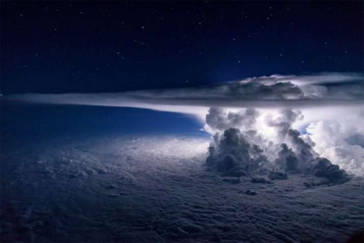 Shot of Thunderstorm Over the Pacific Ocean 2