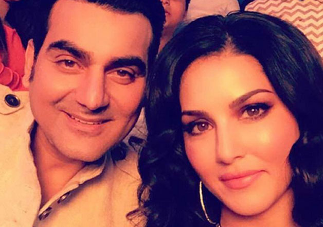 Sunny Leone's picture with Arbaaz Khan