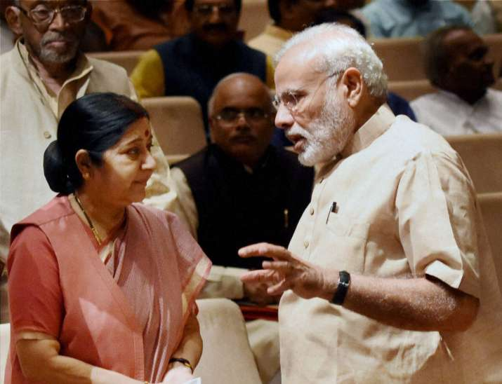 EAM Sushma Swaraj with PM Modi